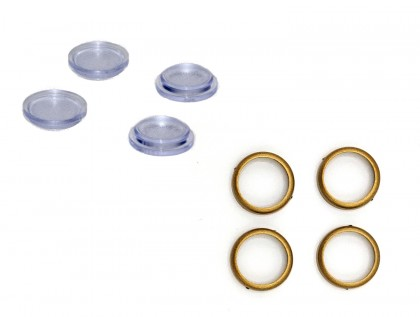 Set-Lampenring mattgold mit Lampenglas ML-Train 83501011