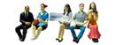 5 sitzende Reisende Set 2 Prehm 550117