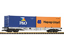 Containertragwagen mit 2 Containern DB AG Piko 37751